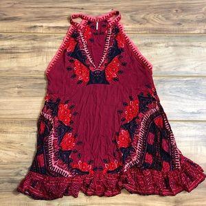 Free People Boho Dress Red Sz M